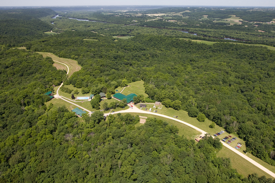 Aerial View of Badger Camp